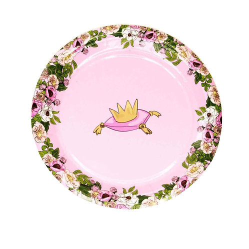 African American Swan Princess Small Party Plates
