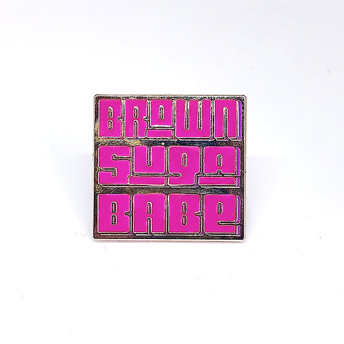 Brown Suga Babe Lapel Pin