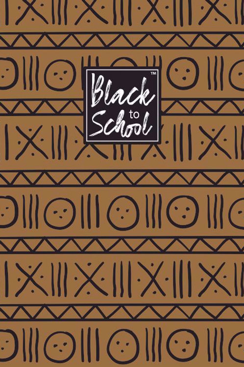 Brown and Black Patterns Small Notebook