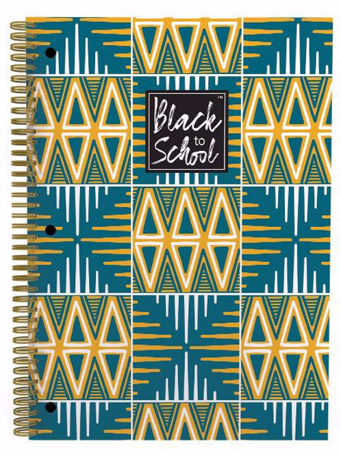 Yellow and Green Patterns Large Notebook