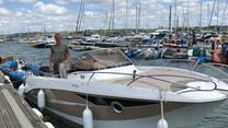 Carmen Rose on the Mylor Sailing School pontoon