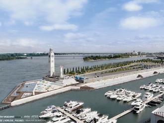 Une première proposition de bain portuaire pour le Vieux-Port / An initial proposal for harbor baths