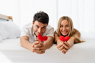 caucasian-couple-lover-happy-smiling-hol