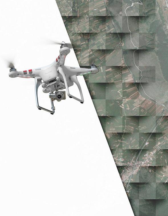 Uno dei droni per i rilievi
