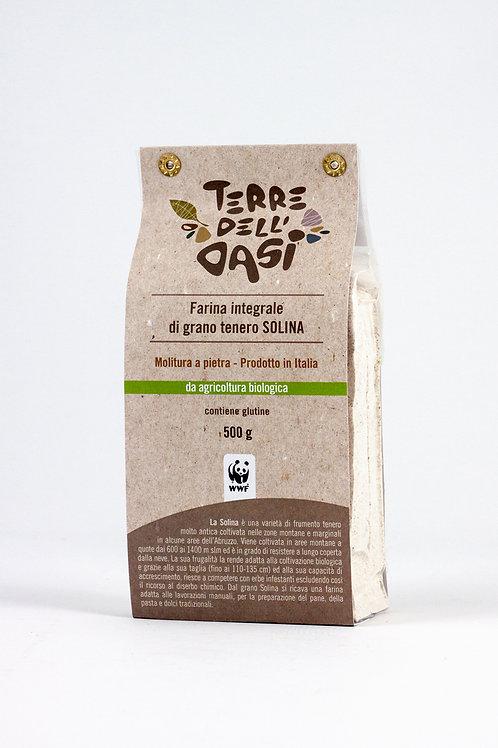 Farina integrale di grano tenero Solina BIO 500g