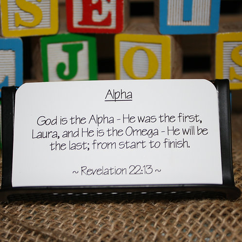 Scripture Cards - ABCs of Knowing God