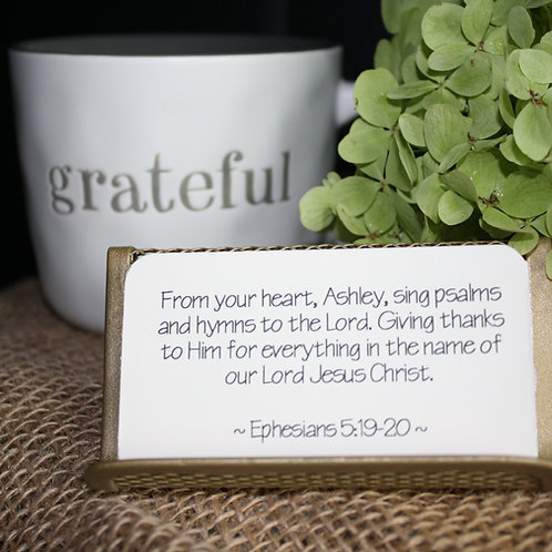 Scripture Cards - A Heart of Gratitude