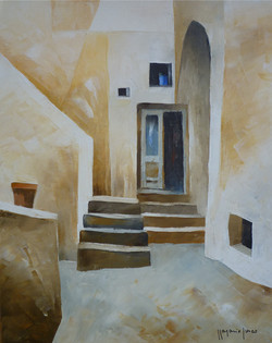 Entrata di casa - Home entrance - oil on canvas - cm 24x30