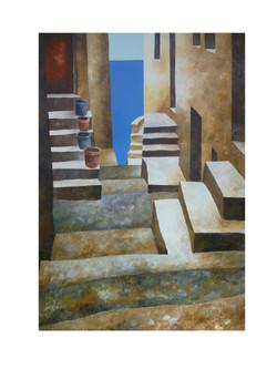 Verso il mare 3 - Down to the sea 3 - oil on canvas - cm 70x100