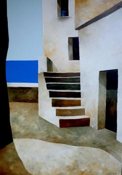Casa sul mare 2 - Home by the sea 2 - oil on canvas - cm 50x70