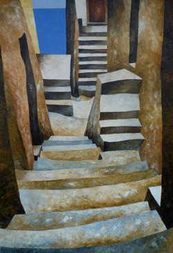 Verso il mare 4 - Down to the sea 4 - oil on canvas - cm 70x100