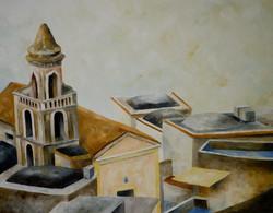 Campanile di Liparlati - Positano_ Liparlati bell tower - oil on canvas - cm 70x90