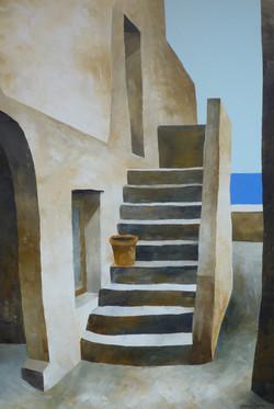 Casa sul mare - House by the sea - oil on canvas - cm 60x40
