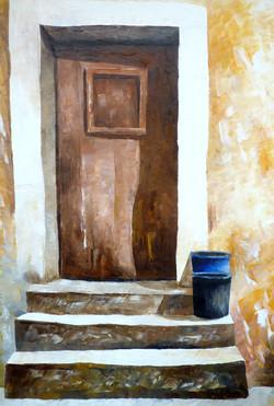 Portone - Door - oil on canvas - cm35x50