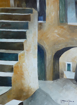 Scale 3 - Stairs 3 - oil on canvas - cm 18x24