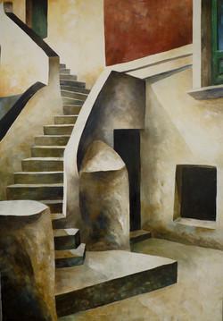 Scala 1 - Stair 1 - Oil on canvas - cm 70x100