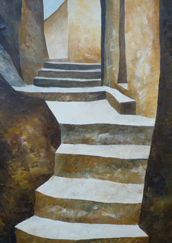 Scale 4 - Stairs 4 - oil on canvas - cm 35x50