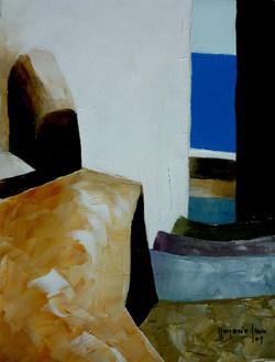 Discesa verso il mare 1 - down to the sea 1 - Oil on canvas - cm 18x24