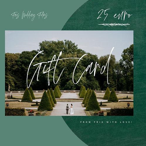 "Fris GIFT CARD ""25 euro"""