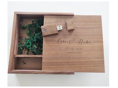 USB GIFT BOX (inclusief gravering front + usb stick)