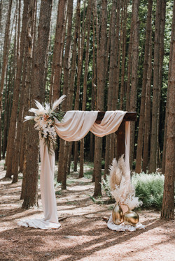 Rustic Arbor with Drapery
