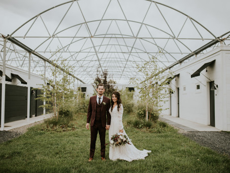 Modern Greenhouse Wedding in the Mountains