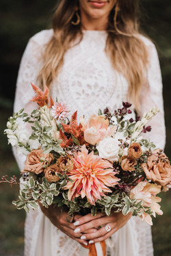 Copper, Peach and Bronze Bohemian Bouquet