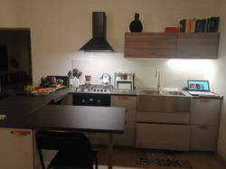 the kitchen & open living room