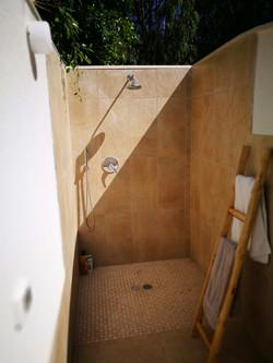 The outside shower