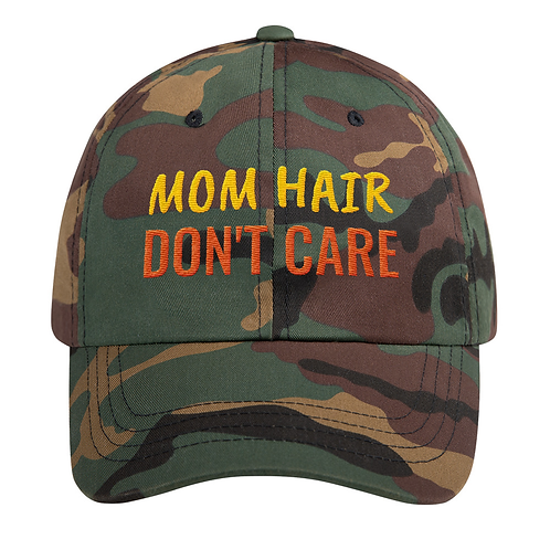 Classic Cotton Embroidered Hat (Mom Hair Don't Care)