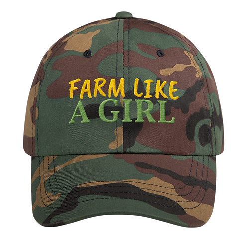 Classic Cotton Embroidered Hat (Farm Like A Girl)