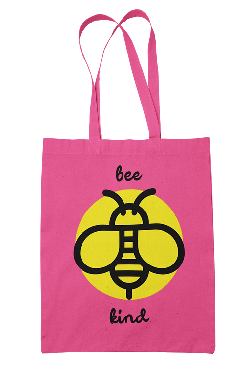 Bee Kind 100% Cotton Canvas Tote Bag