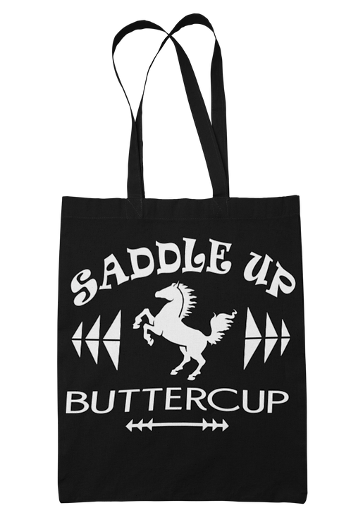 Saddle Up Butter Cup 100% Cotton Canvas Tote Bag