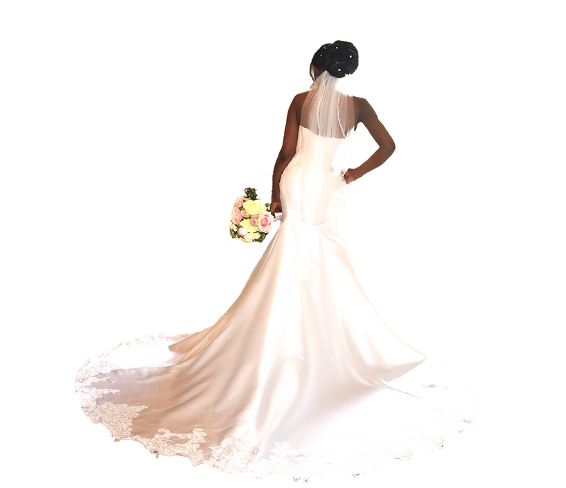 African Bride London Wedding Bun upo by Asia Wray