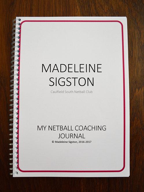 My Netball Journal - Coach