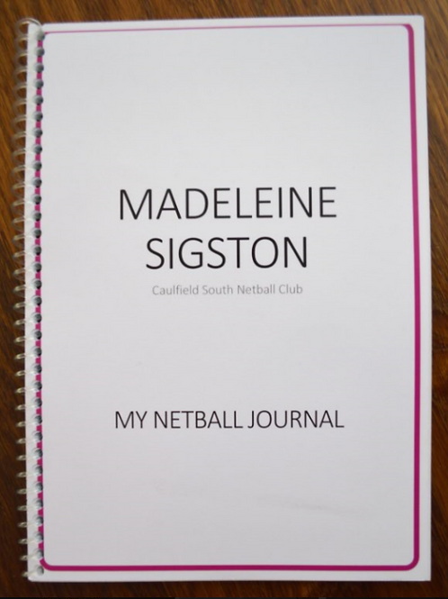 My Netball Journal - Player