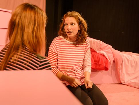 Gina Ruysen as Kate in FRIDAY NIGHT LOVE POEM. Photo by Matthew Thomas.