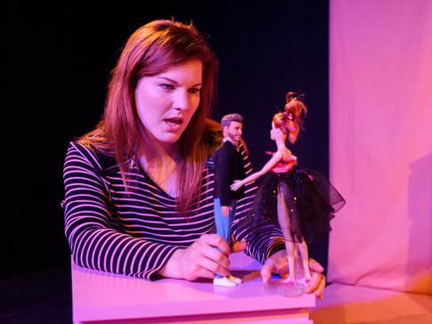 Kara Chamberlain as Cecilia in FRIDAY NIGHT LOVE POEM. Photo by Matthew Thomas.