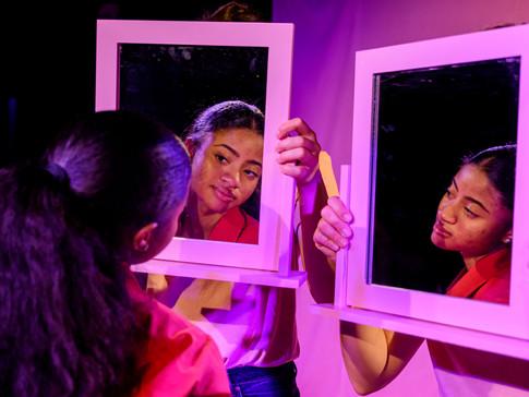 Jordan Daley as Mia in FRIDAY NIGHT LOVE POEM. Photo by Matthew Thomas.