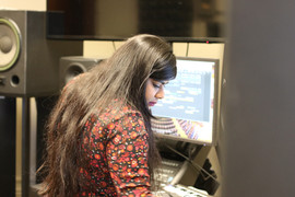 Rivita working in Studio