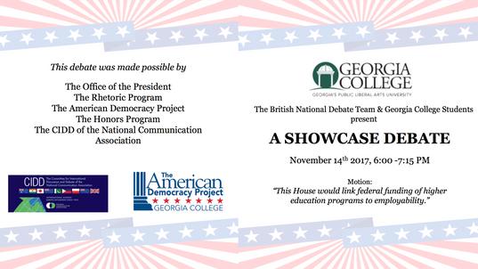 Debate Program for Georgia College