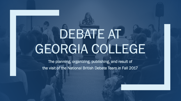 Conference Presentation: The National British Debate Team at GC
