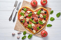 Marry Me Heart shaped Pizza