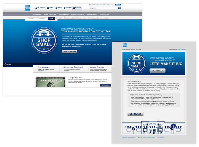 Small Business Saturday landing page and email to small business owners.jpg