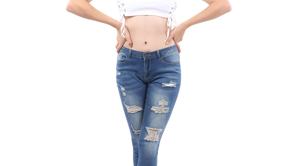 Dayton High Waisted Distressed Jeans