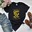 Thumbnail: Ladies 100% Cotton Melanin Women Summer Femme Graphic Tees Shirt