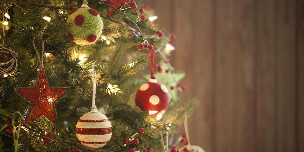 Christmas Tree & M&M Ornament Making