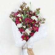 Rote Blumen-Blumenstrauß