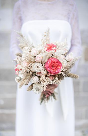 Robe Helena, bouquet Porte des lilas
