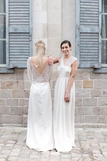 A gauche robe Barbara et à droite la robe Elizabeth